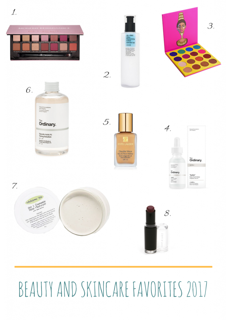 My 8 Top Beauty Favorites for 2017